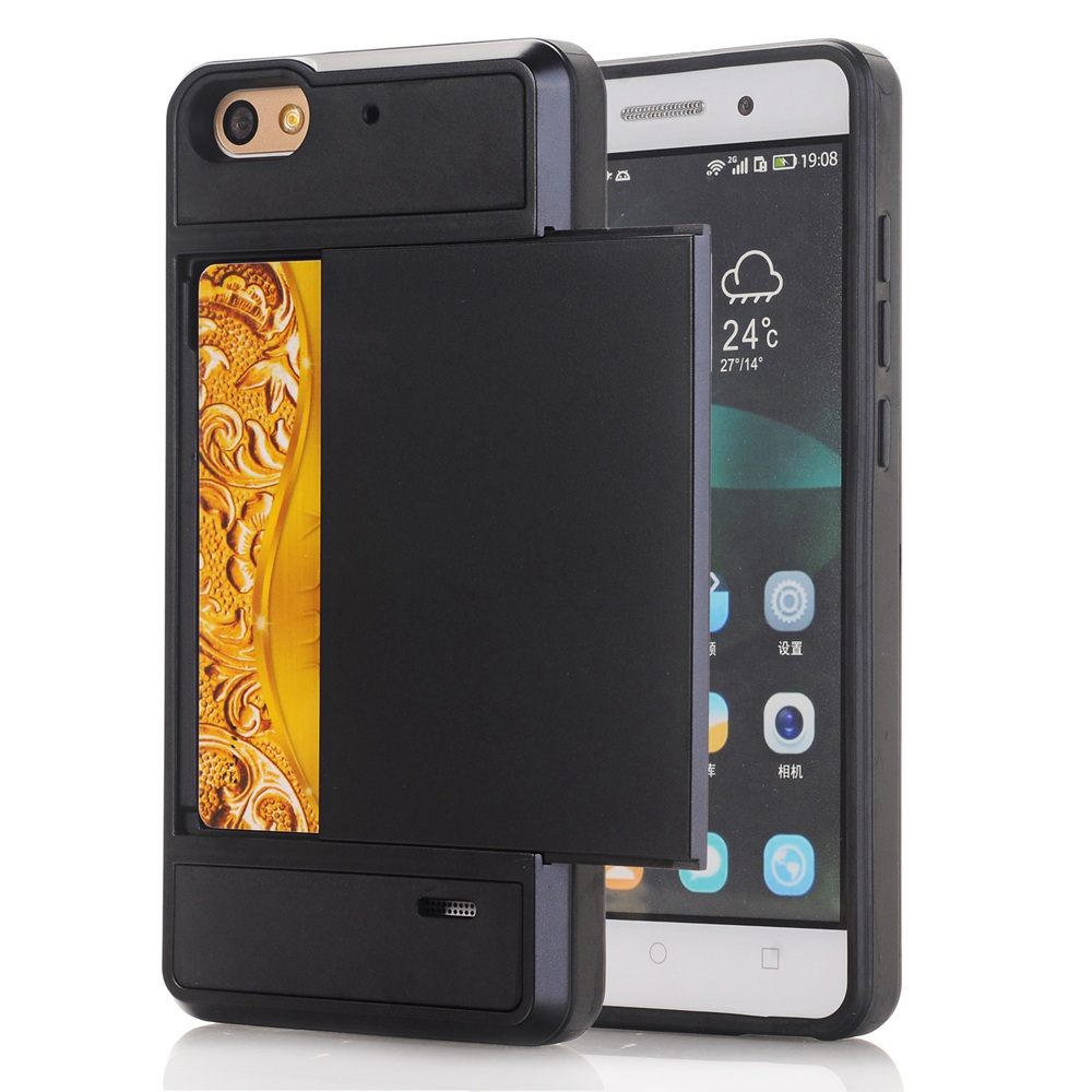 For Huawei Honor 4C Armor Slide Card Holder Case for ...