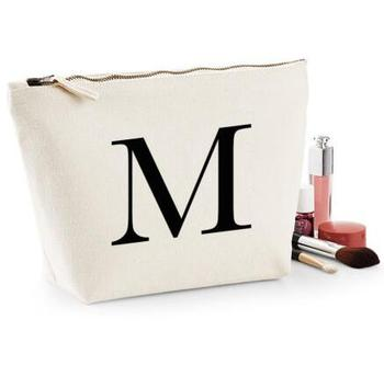 Personalised names or LETTERS bridesmaid wedding Gift Make Up Cosmetic Bags Unique Gift for Bridal Party Bags