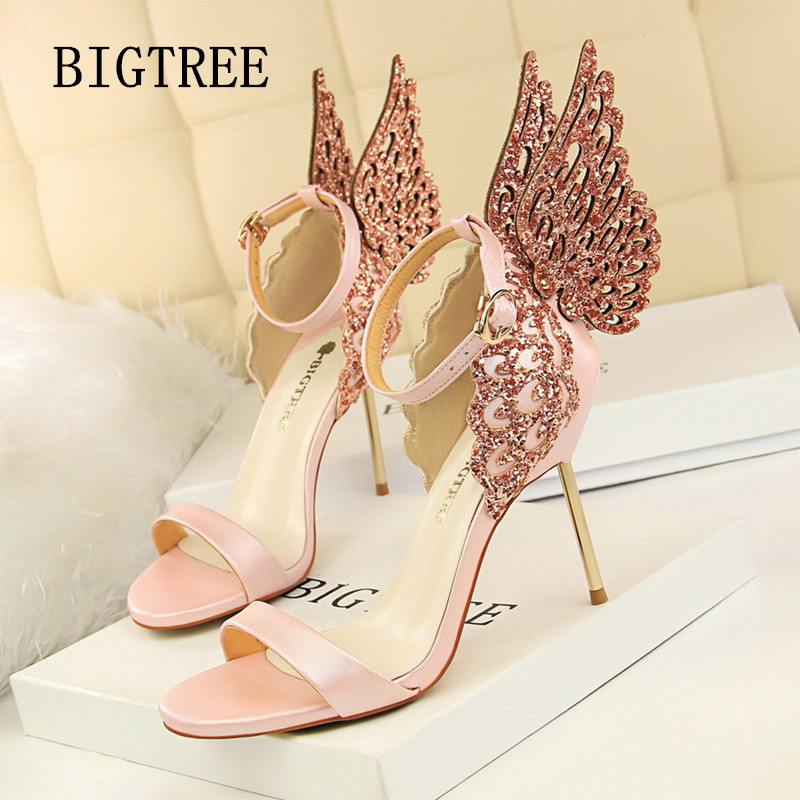 Women Shoes Summer 2018 Sexy High Heel Pumps Party Wedding Shoes Luxury Brand Ladies High Heel Sandals Women Zapatos Mujer Veran