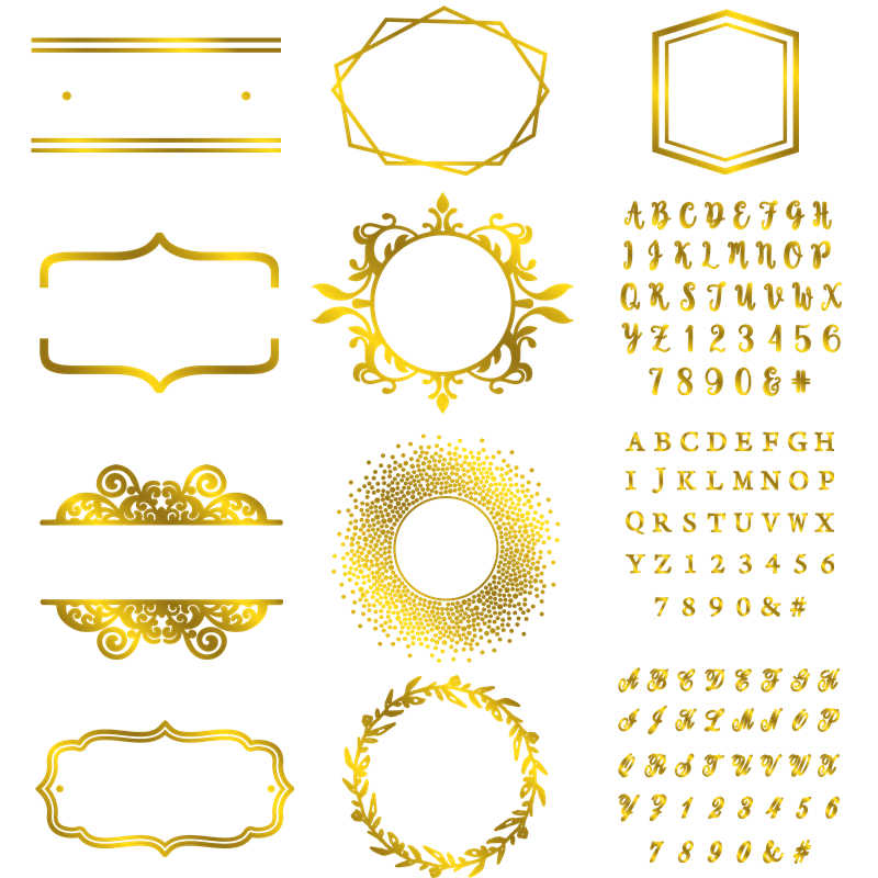 Irregular Frame A-Z Alphabets 0-9 Numbers Hot Foil Plates for Scrapbooking DIY Paper Card Making Embossing Craft New 2019