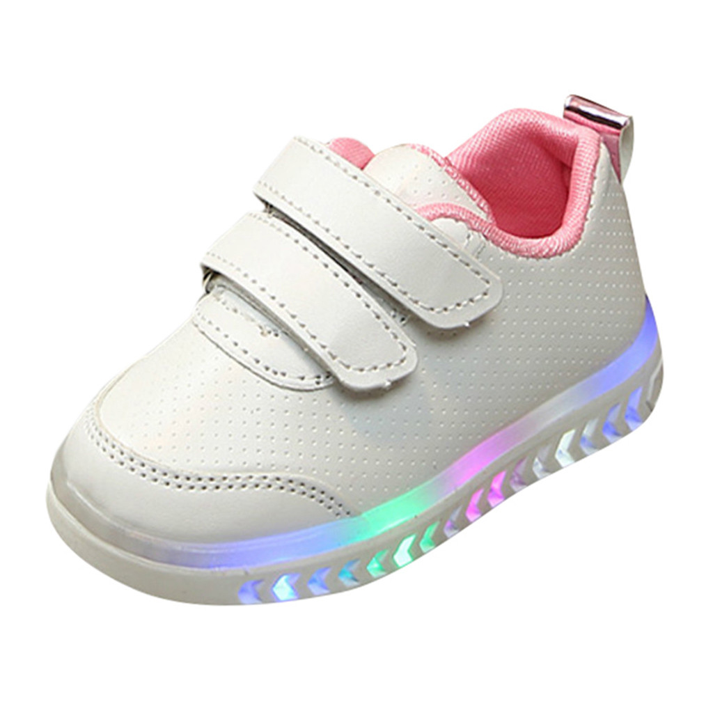 Toddler Kid Baby Boy Gir Led Light Shoes Boys Soft Luminous Outdoor Sport Shoes