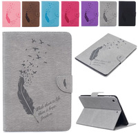 leather flip For Apple Ipad Mini 7.9 Cases High quality PU Leather Flip Stand Feather Pattern Case For iPad Mini 2 3 4 Cover Funda Skin She (1)