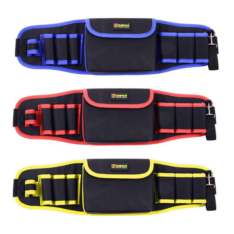 Multi-function Hammers Screwdriver Repair Tool Pouch Storage Tool Bag Waterproof Oxford Cloth Waist Pack For Electricians