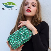 Mystic River Women Evening Clutch Bag Gold Clutches Bags Blue Party Silver Wedding Party Purse Purple