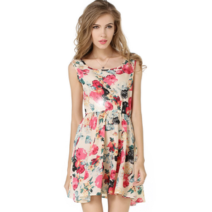 Mini Style Print Women Dress o