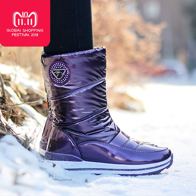0f597f1f0bd High quality women boots 2018 new arrivals waterproof thick fur winter  shoes slip resistant women platform snow boots -in Mid-Calf Boots from  Shoes on ...