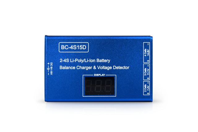 JMT 2S 3S 4S Cell Li-Ion Li-Poly  RC Battery Balance Charger Voltage Detector For Quadcopter Hexacopter No Adapter
