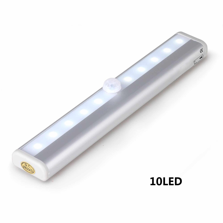 Batterij Wandlamp Led Spiegel Licht Waterdichte Led Pir Motion Sensor 10leds Moderne Acryl Wandlamp Badkamer Verlichting Under Cabinet Lights Aliexpress