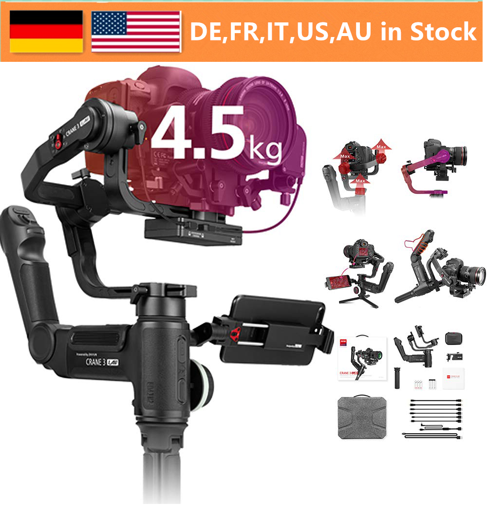 ZHIYUN Weebill Crane 3 LAB 3-Axis Wireless FHD Image Transmission Camera Stabilizer ViaTouch Control Handheld Gimbal For DSLR