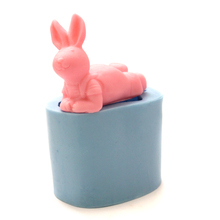 Silicone Soap Mold Cute Rabbit Shape Multifunction Candle Molds Chocolate Candy Mould DIY Handmade Craft