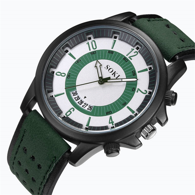 Casual Military Sport Men's Watch High Quality Quartz Analog Wristwatch 3