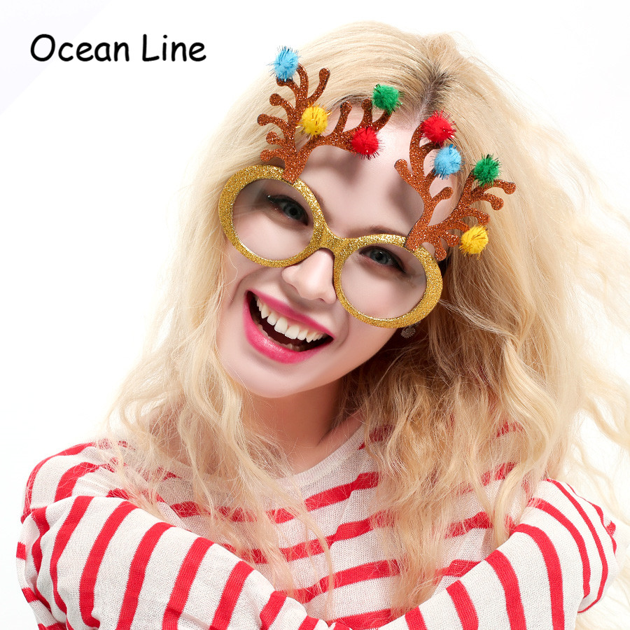b94ee7a062f Detail Feedback Questions about Funny Shiny Reindeer Decorative Christmas  Decoration Gifts Party Costume Glasses Novelty Sunglasses New Year Party  Supplies ...