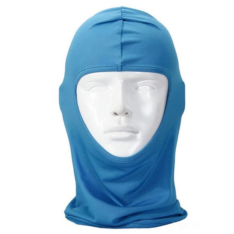 New Classic Lycra Ski Face Mask Bike Bicycle CS Sports Football Mask Balaclava Headband headgear halloween face mask #2a (17)