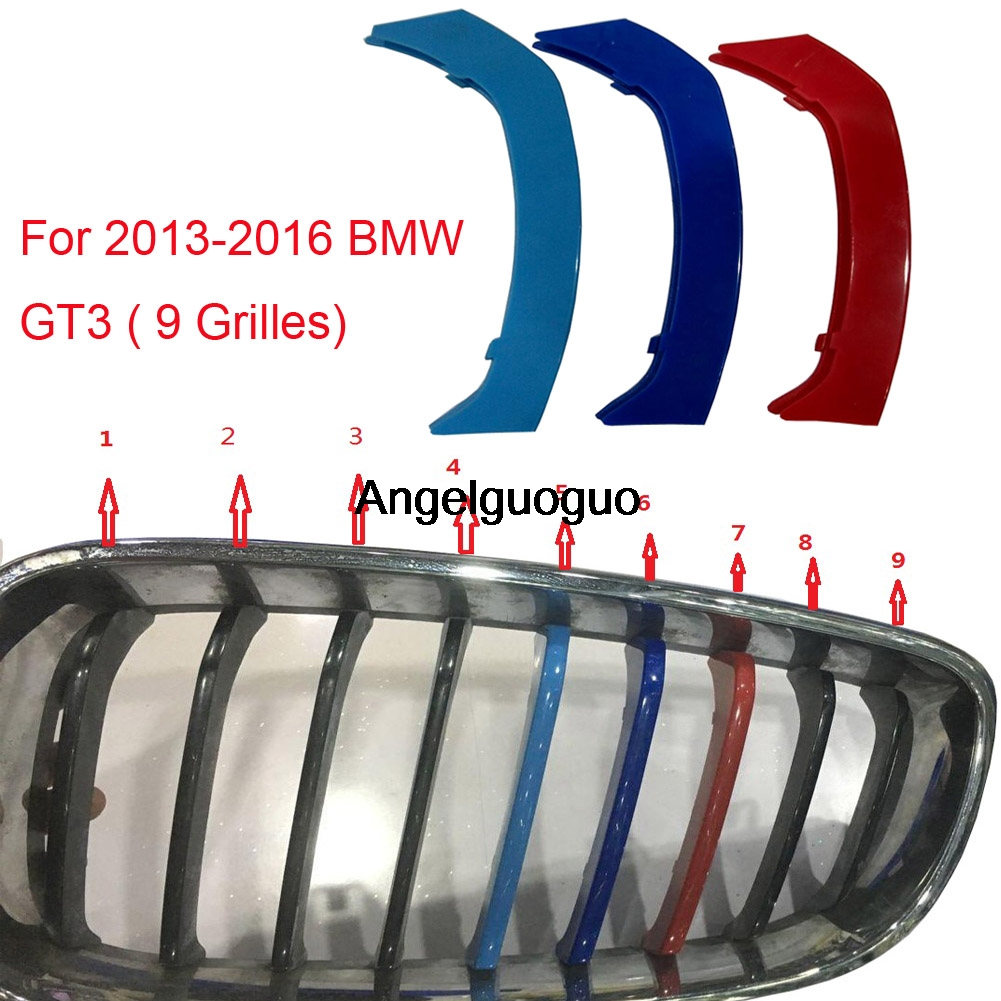 Angelguoguo Car Head Grille Insert Strip Clips Trims Cover