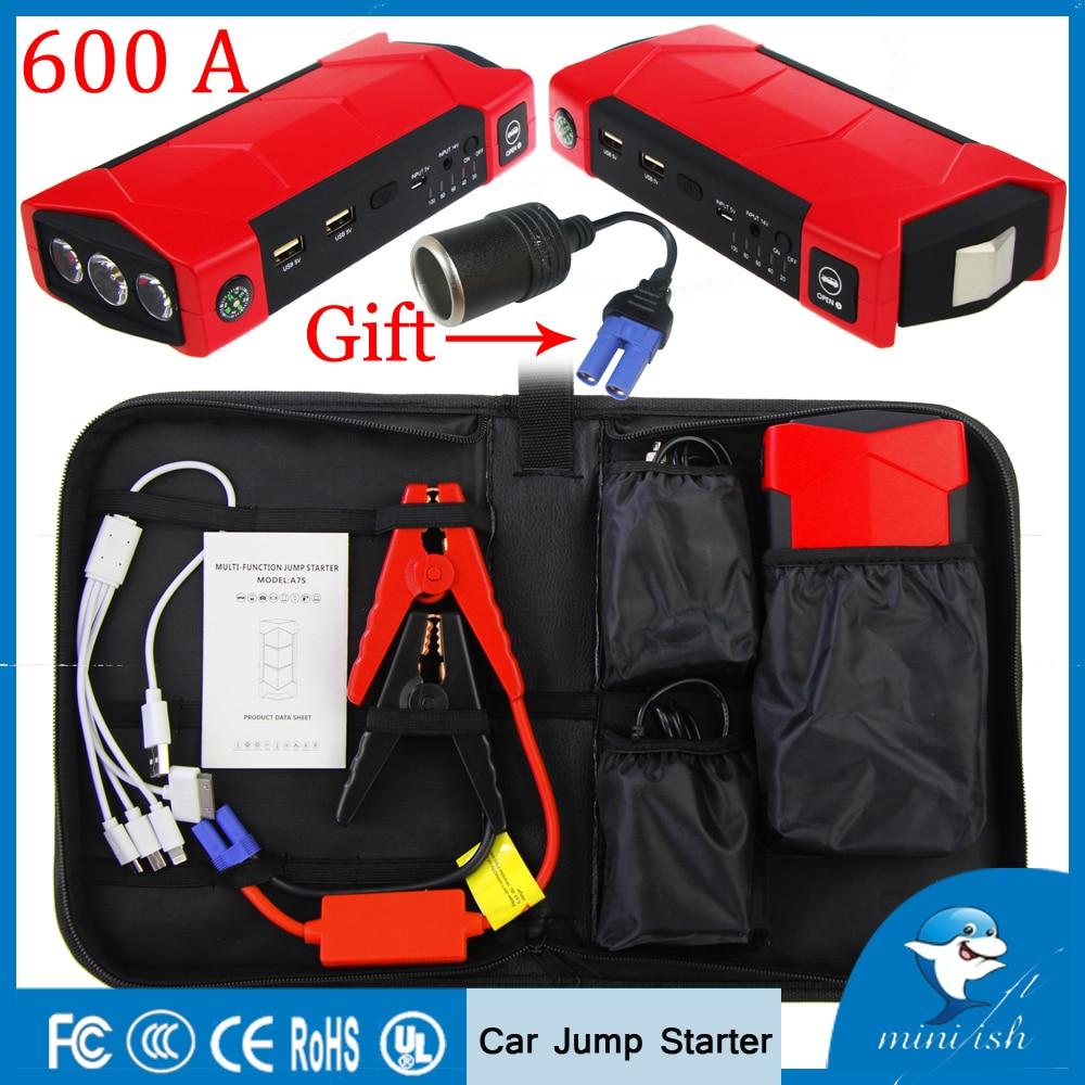 600A Courant de Crête Portable Mini Booster Batterie De Voiture Saut Démarreur Pour L'essence 8.0L Diesel 6.0L D'urgence Auto Power Bank Chargeur