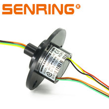Senring OD 22mm 6 circuit signal 2A gold to gold contacts capsule slip rings
