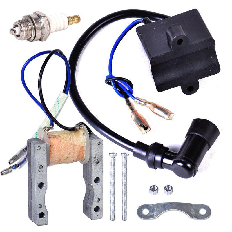 48cc 80cc gas Motor ENGINE parts CDI ignition /& 2 spark plug