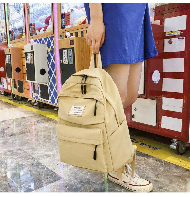HTB1as74cUCF3KVjSZJnq6znHFXaf 2019 New Backpack Women Backpack Fashion Women Shoulder nylon bag school bagpack for teenage girls mochila mujer
