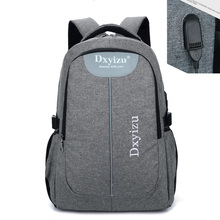 External USB Charge Canvas Men Women Notebook Waterproof Backpack