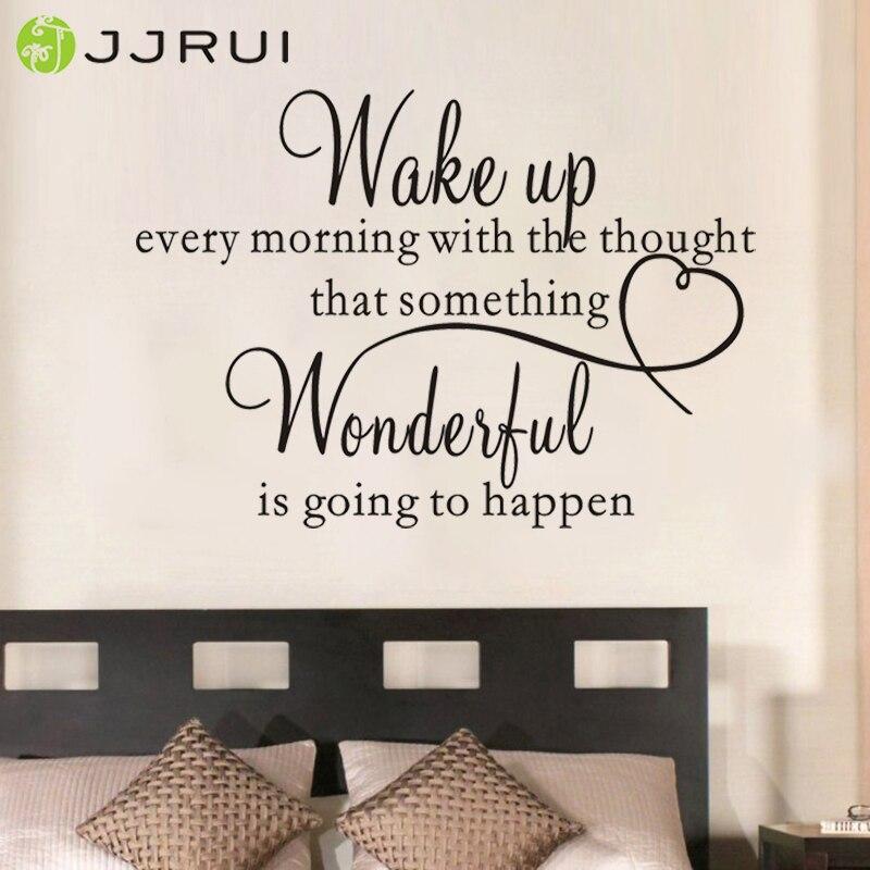 JJRUI sirds ģimene Brīnišķīga guļamistaba Citāts Sienas - Mājas dekors
