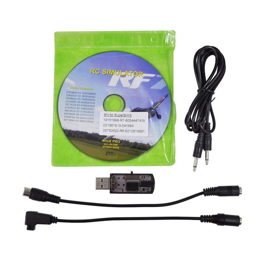 Высокое качество Новый все 20in1 Flight Simulator кабель USB Dongle для Вертолет Самолет автомобилей Игрушечные лошадки оптовая продажа бесплатная доста... ...