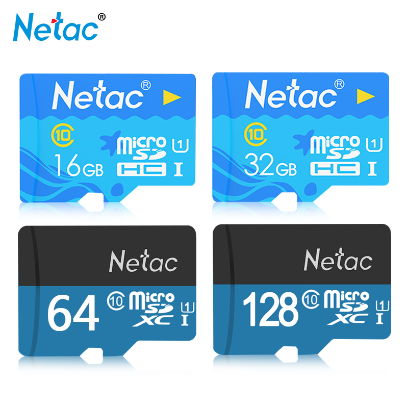 100% Original Netac P500 Micro SD Card UHS-I 16GB 32GB 64GB 128GB TF Card U1 Flash Memory Card High Speed Microsd For Smartphone