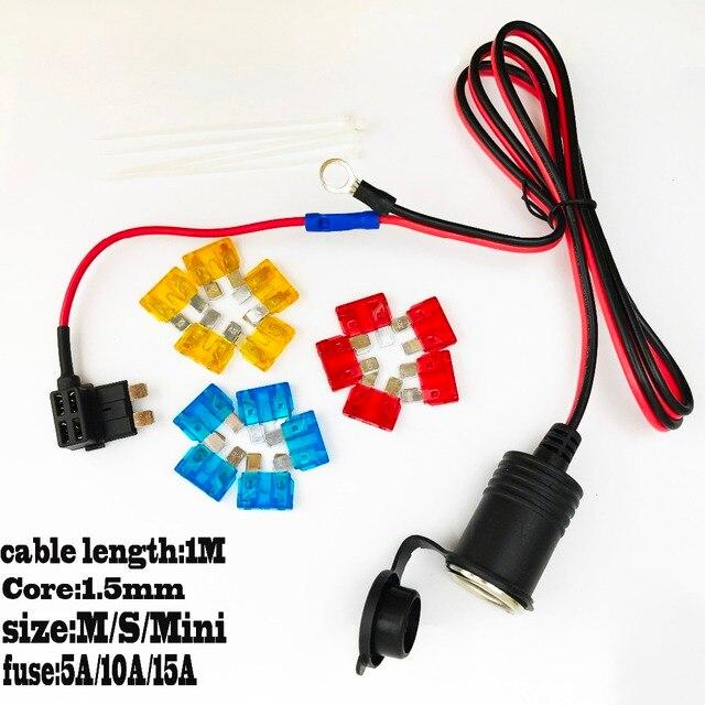 1set Car Cigarette Lighter socket 12v/24v Extension standard Fuse