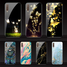 Geruide Phone color printing Samsung Galaxy s8 S9 Plus S7 edge S8 Nota 8 9 A5 A6 A7 A8 A9 2018 case Tempered Glass Cover