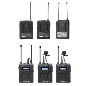 Image 1 - BOYA BY WM8 Pro K2 UHF ثنائي القناة ميكروفون لاسلكي نظام 2 أجهزة الإرسال و 1 جهاز استقبال مع شاشة LCD لكانون Ni