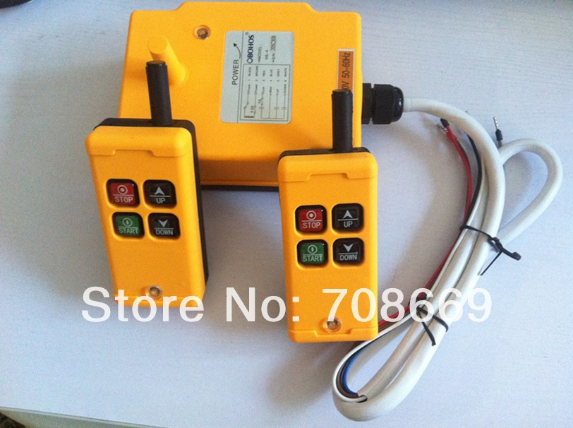 2 Transmitters 1 Motion 1 Speed Hoist Crane Truck Remote Control System