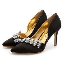 2017 Sexy Pointed Women Pumps Thin High Heels Shoes Red Black High-heeled Women Wedding Shoes Plus Size889-82TS