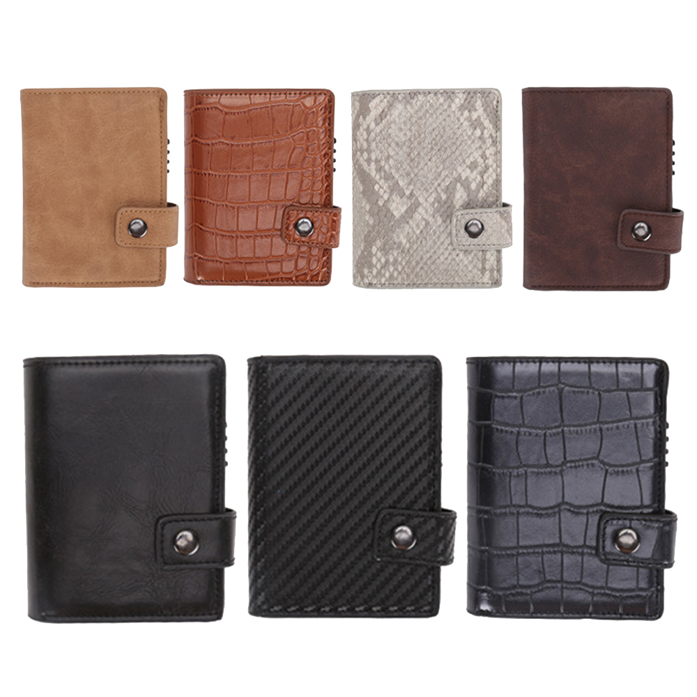 Travel Card Bag Aluminum Wallet Credit Card Holder Metal with RFID Blocking Multifunction Wallet Travel Case Travel Mini Bags