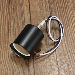 Lamp Base E27 Vintage Retro Antique Edison Ceramic Screw Bulb Hang Socket Lamp Base Holder Light Fitting With Wire