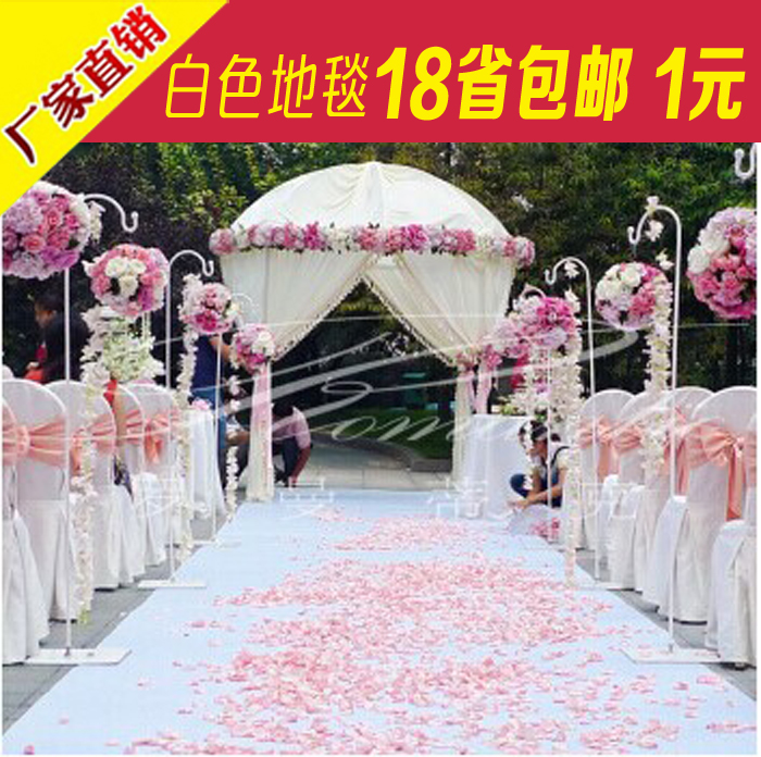 2016 upscale wedding favors white 3d rose petal carpet aisle runner