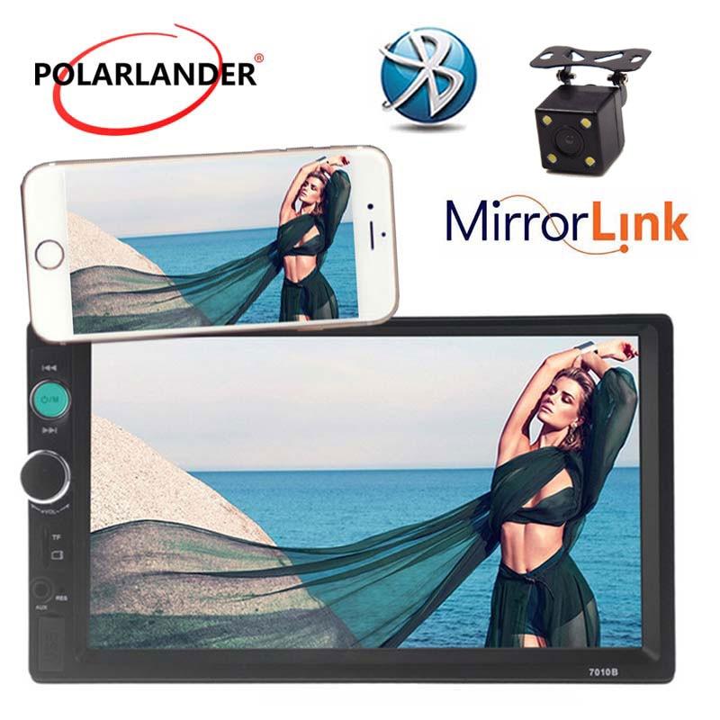 Universal 2 DIN Auto Stereo MP5 Radio MP3 in Dash HD Touchscreen Kopf Einheit Player USB/TF/ AUX/FM Unterstützung Hinten Kamera Spiegel Link