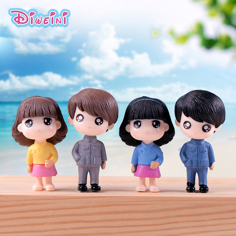 2pc Artist Lover Model Boy Girl Figurines Wedding Doll Miniatures Couple Home Garden Decoration Girl Toy DIY Accessories Gift