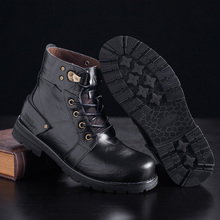 Leather Leisure Male Shoes Adult Comfortable Martin Boots Men Fashion Walking Shoes Men