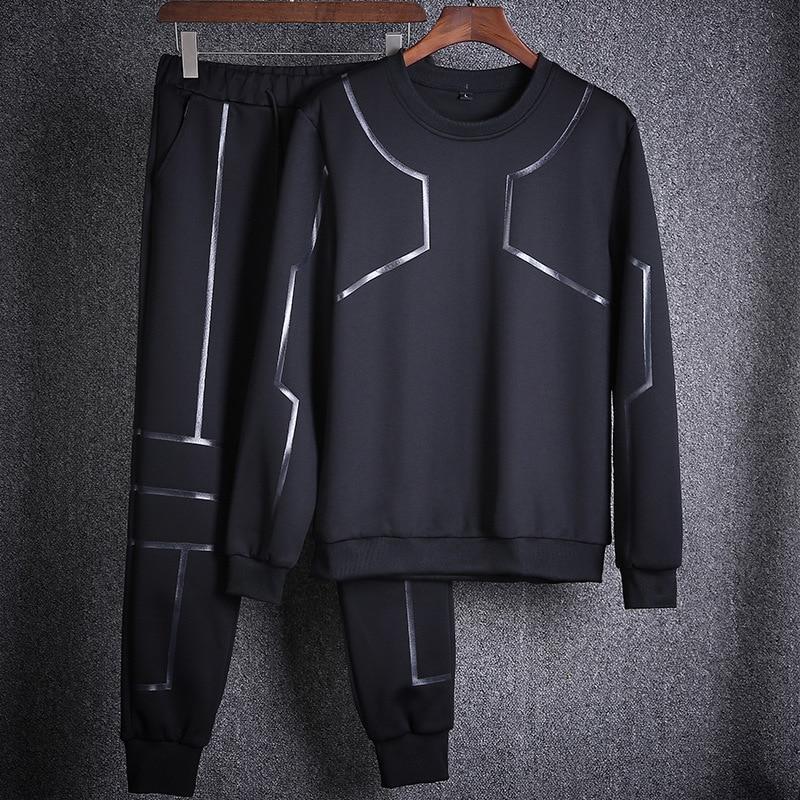 New Arrival Men's Sets Autumn Winter Casual Men Sportswear Sweatshirts Hoodie+Pants 2 Pieces Set Tracksuit Mens Sets