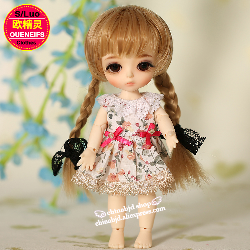 OUENEIFS free shipping  new floral princess dress skirt lace edge 1/8 bjd sd doll clothes have not wig or doll YF8-106