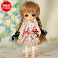 Oueneifs Customization Original 1 8 Bjd Sd Doll Clothes New Floral Princess Dress Skirt Lace Edge