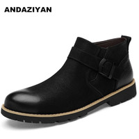 Trend high to help Chelsea tooling boots leather men boots short tube layer cowhide