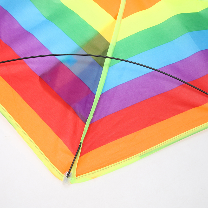 1-Pcs-New-Rainbow-Kite-Kids-Children-Beach-Kite-Nylon-Ripstops-Outdoor-Fun-Sports-Triangle-Rainbow-Kite-Without-Flying-Tools-3