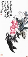 traditional Chinese painting masterpiece reproduction canvas prints Chinese posters pictures giant poster Peony by Wu Changshuo