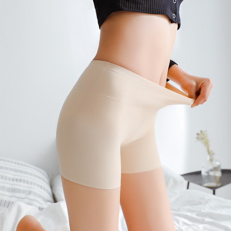 Seamless SafatyPants Summer Under Skirt  Ice Silk Breathable Strech Anti Emptied Breathable Legging