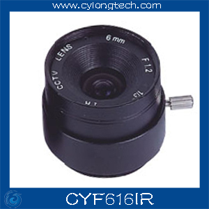 Free Shipping 1/3'' F1.6 CS  Fixed Iris  6mm IR Lens  CCTV Camera Professional Lens 8mm 12mm 16mm cctv ir cs metal lens for cctv video cameras support cs mount 1 3 format f1 2 fixed iris manual focus