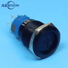 ФОТО 1975f momentary pin pe momentary or latching 12v power logo illuminated metal button switch black power switch
