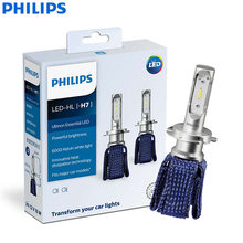 Philips Ultinon esencial LED H7 12 V 11972UEX2 6000 K coche brillante LED faro Auto HL haz termalcool (Doble pack)(China)