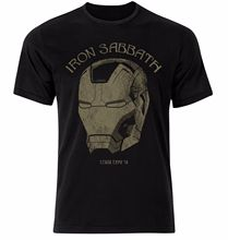 IRON SABBATH MAN BLACK CROSS OVER THE AVENGERS UNISEX T SHIRT Fashion Summer Paried Tshirts Black Style