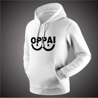2016 Anime One Punch Man Hero Saitama Oppai Hoodies Halloween Cosplay Costume Hoodie Jacket Sweatshirts Men Women Plus Size 3