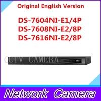 Original English Version NVR Embedded Plug Play NVR DS 7604NI E1 4P And DS 7608NI E2